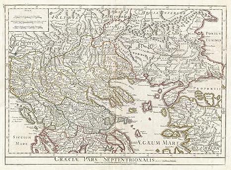 Amazon.com: Historical 1794 Delisle de mapa del norte ...