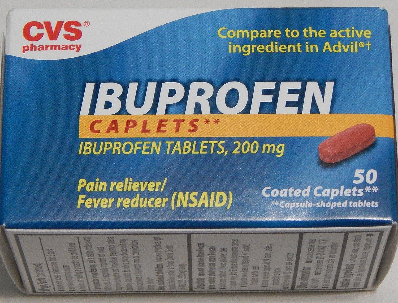 amazon com cvs pharmacy ibuprofen caplets tablets 200mg pain