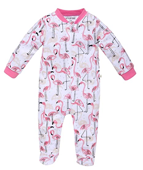 49a590319b8f WIUFBE Footed Pajama Baby Boys Girls Sleeper Long Sleeve 100% Cotton ...