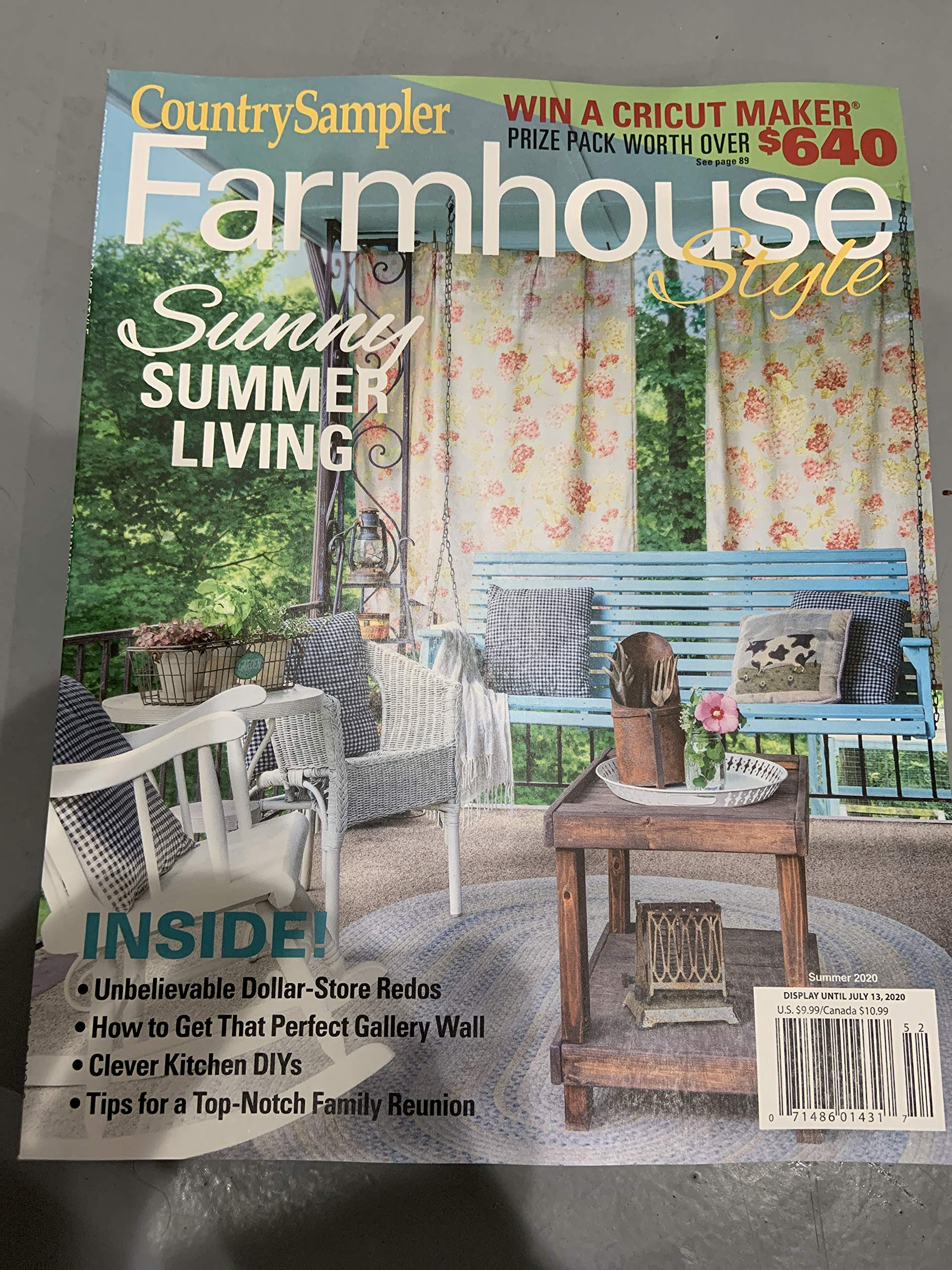 Country Sampler Farmhouse Style Magazine Summer 2020 Sunny Summer Living Generic Amazon Com Books