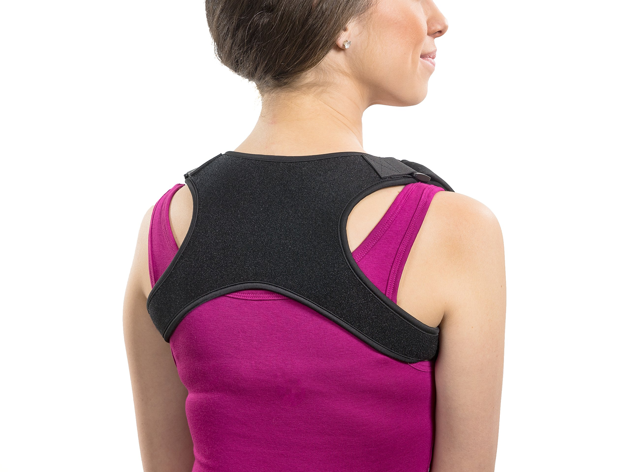 Apex Brace Posture Corrector for both Men & Women - Comfortable and Easily Adjustable Shoulder Support - Chest Support - Provides Upper Back Pain Relief – Improves Bad Posture by Apex Brace (Image #8)