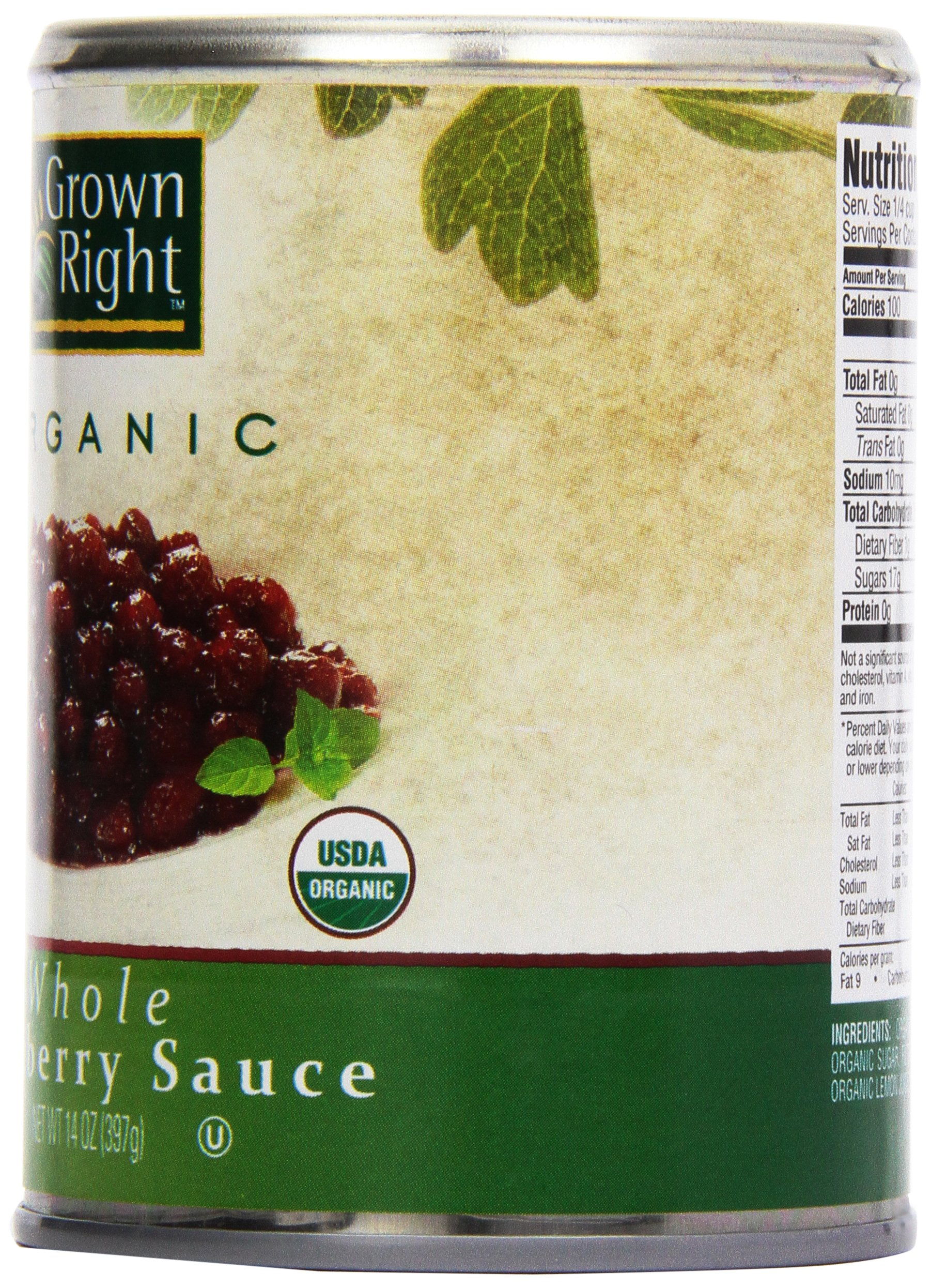 Grown Right Organic Whole Cranberry Sauce, 14 oz by Grown Right (Image #4)