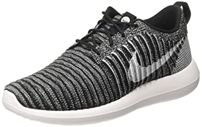 finest selection c9c6d 49551 Nike Roshe Two Flyknit Men s Shoes Black White Wolf Grey 844833-007 (