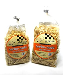 2 Packs Al Dente Carba-Nada Egg Fettuccine 10-ounce Bag