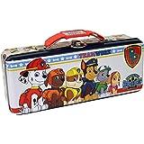 The Tin Box Company Pencil Box with Handle Tin Carry All, Paw Patrol, Multicolor, Estándar