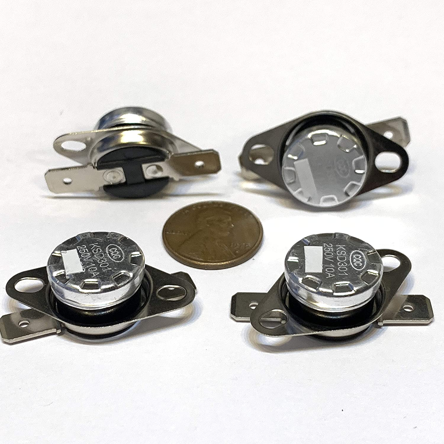 4 Pieces N//C 80ºC 176ºF normally closed Thermal  Thermostat switch KSD301 C26