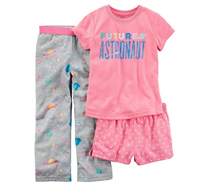 e72051c4d Amazon.com  Carter s Girls  4-14 3-Pc. Future Astronaut Pajama Set ...