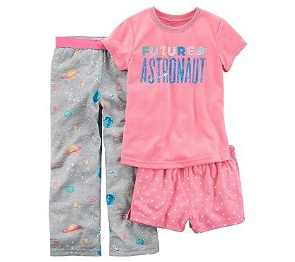 4da41a96d0f7 Amazon.com  Carter s Girls  4-14 3-Pc. Future Astronaut Pajama Set ...