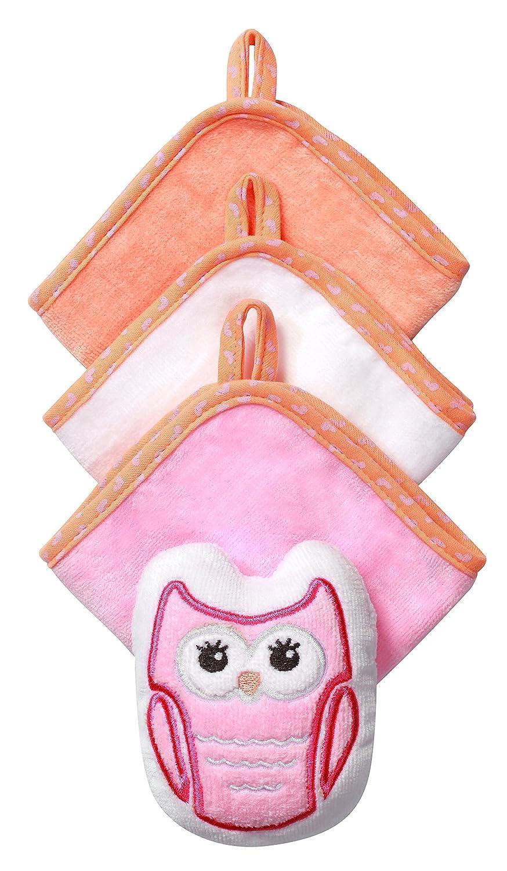 Gant de toilette avec éponge–Set Bébé 3Pièces aud velours 100% coton 7311 BabyOno