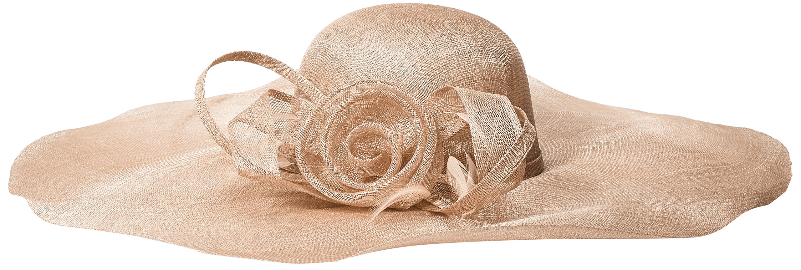 Scala Women's Big Brim Sinamay With Loops, Taupe, One Size by Scala