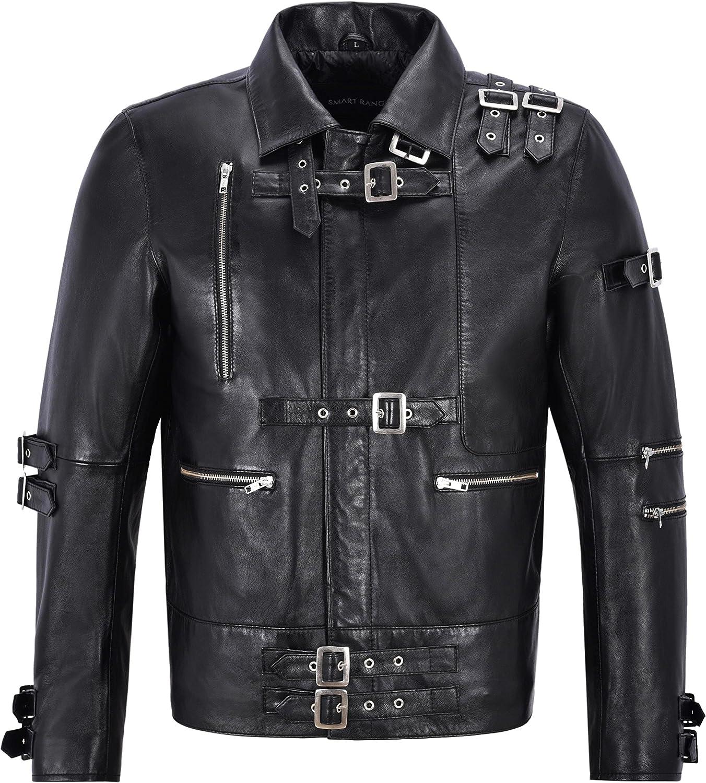 Chaqueta de Cuero para Hombre Michael Jackson inspiró Black Music Fashion Jacket MJ Bad