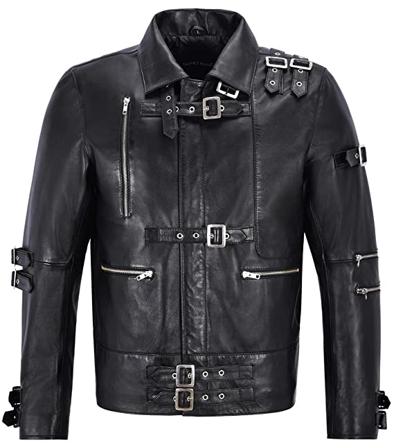 Mens Leather Jacket Michael Jackson Inspired Black Music ...