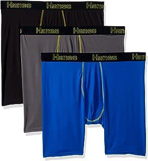 039768bfb505 Hanes Men s Comfort Flex Fit Lightweight Mesh Long Leg Boxer Brief 3-Pack