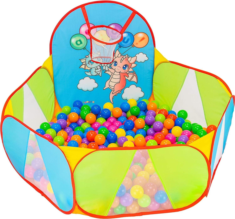 Bambini Recinto per Bambini Parco Giochi Bambini Piscina di Palline per Bambini Giochi Giardino C Palline Non Incluse NUBUNI Piscina Palline Canestro Basket