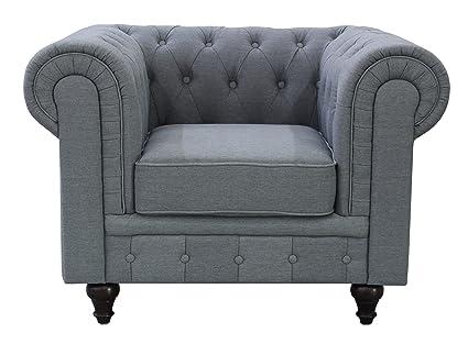 Amazon.com: US Pride Furniture S5070-C Linen Fabric Chesterfield ...