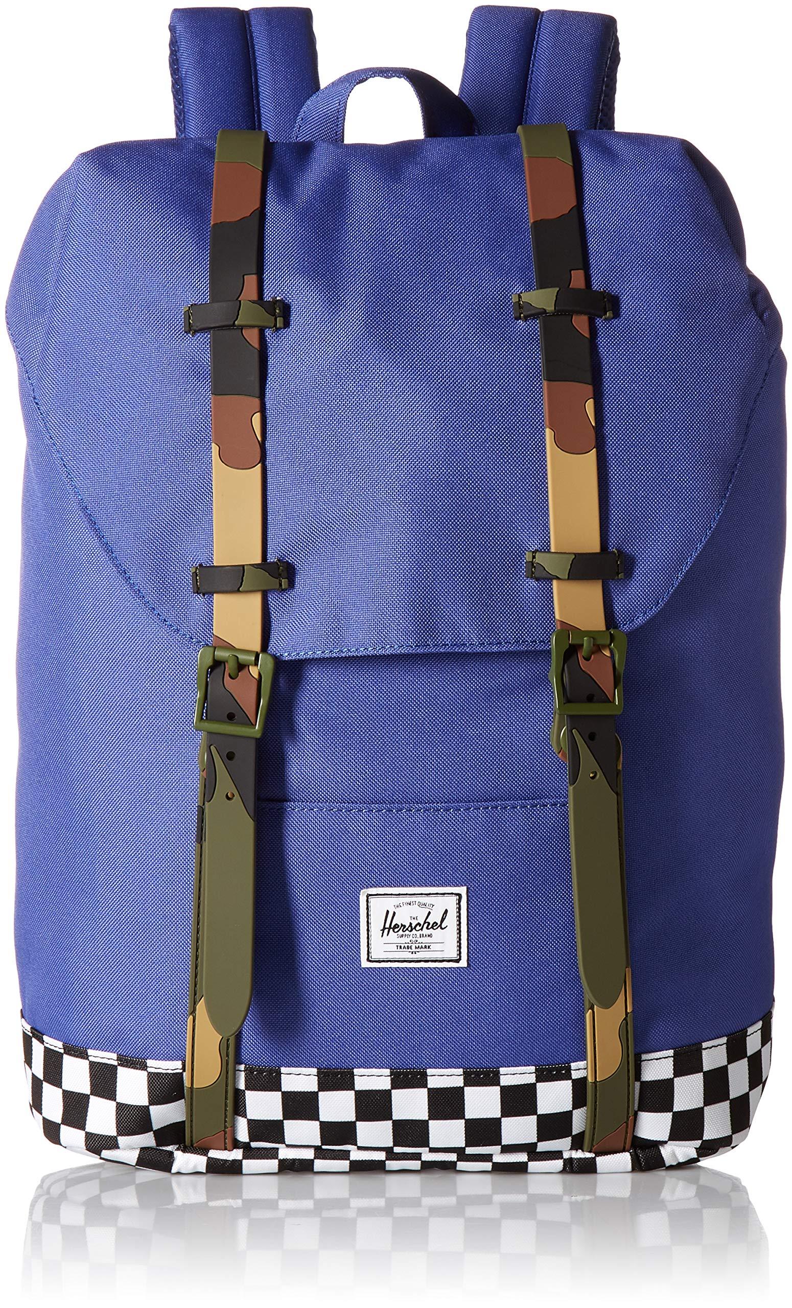 Galleon - Herschel Supply Co. Kids  Retreat Youth Children s Backpack, Deep  Ultramarine Checker Woodland Camo, One Size b2377b912f