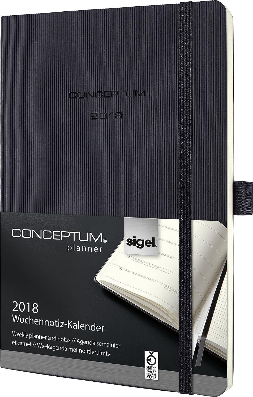 Sigel C1824 - Agenda-cuaderno semanal, color negro: Amazon ...