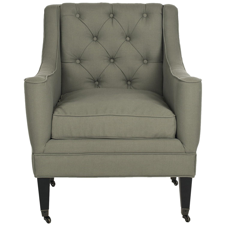 Amazon.com: Safavieh Mercer Collection Sherman Arm Chair, Sea Mist: Kitchen  U0026 Dining