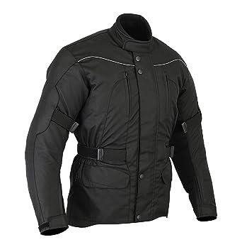 Chaqueta impermeable de motociclismo para hombre - Con protectores - Negro - EU 64 / contorno de pecho 137cm / 6XL