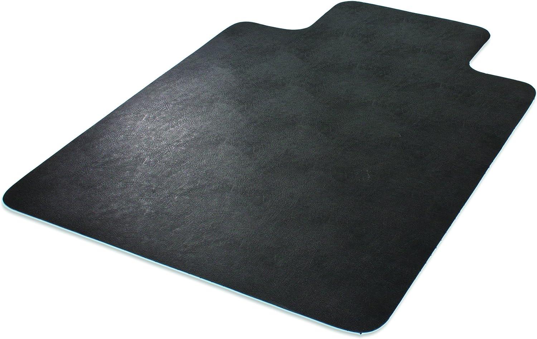 "Deflecto EconoMat Chair Mat, Non-Studded for Hard Floors, Straight Edge, 45"" x 53"", Black (CM21232BLKCOM)"