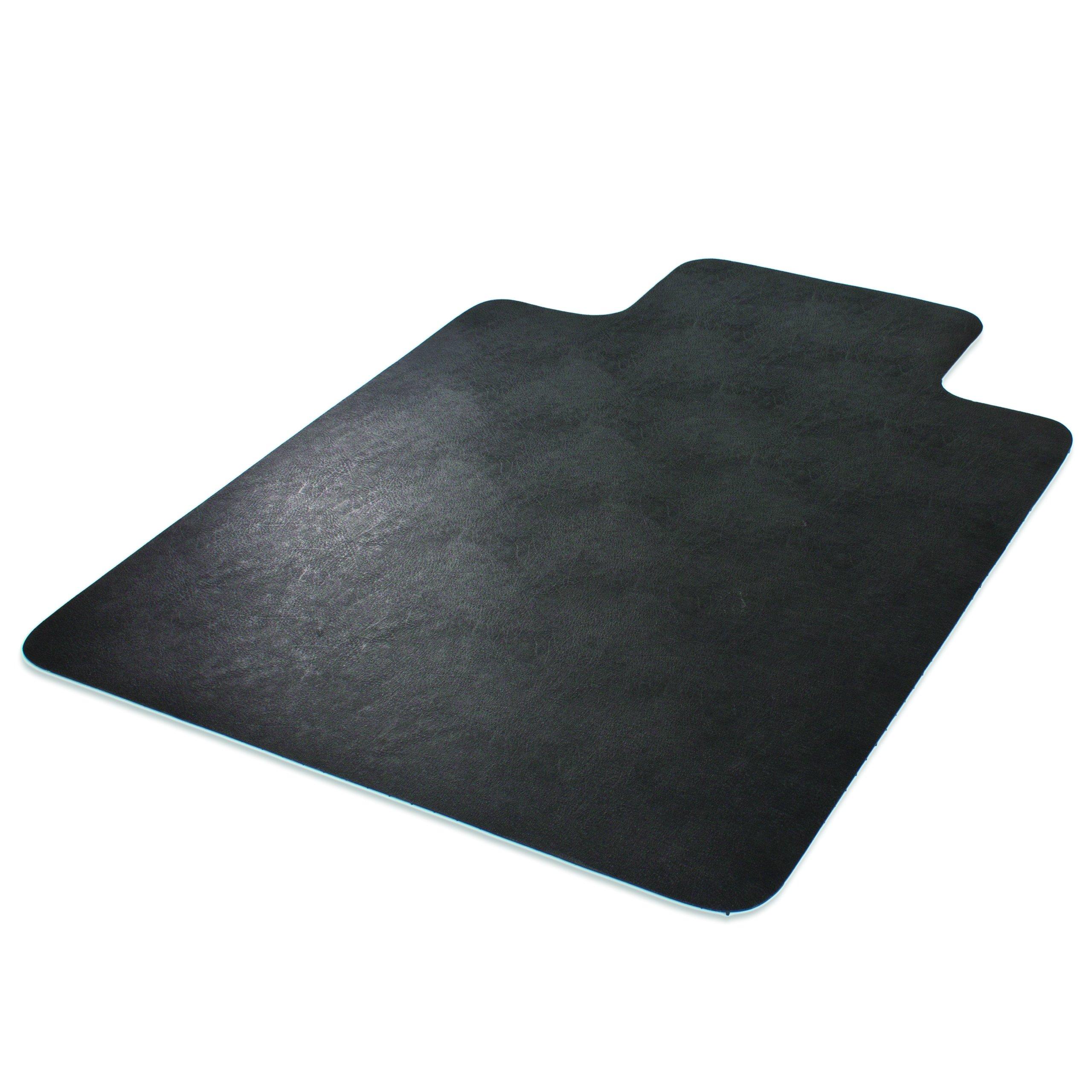 Deflecto EconoMat Chair Mat, Non-Studded for Hard Floors, Straight Edge, 45'' x 53'', Black (CM21232BLKCOM) by Deflecto