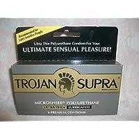 Trojan Supra Lubricated, 6 Count
