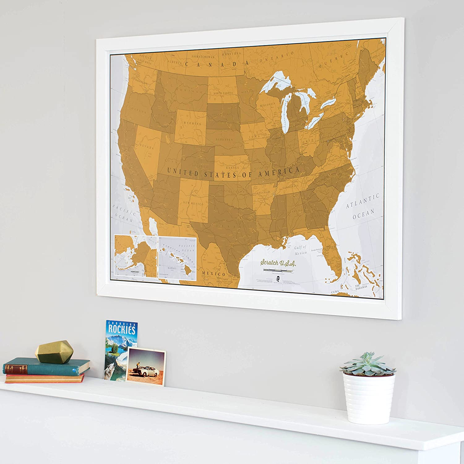 Amazoncom  Scratch USA Scratch Off Places You Travel America - A a large map of the usa