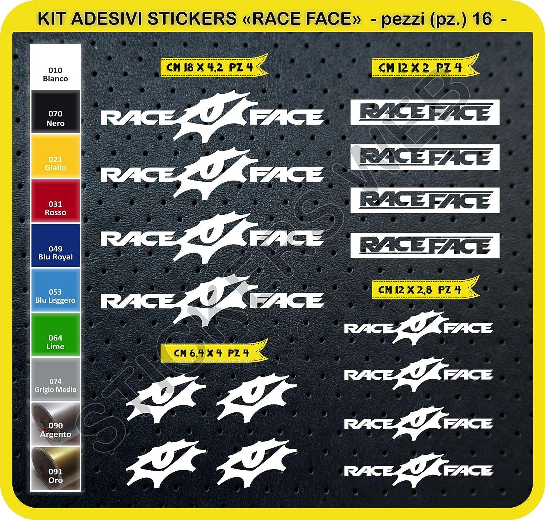Bike Cycle Pegatina Cod.0106 /Elige Subito Colore Pegatinas Bicicleta Race Face Raceface Kit Pegatinas Stickers 16/Piezas/