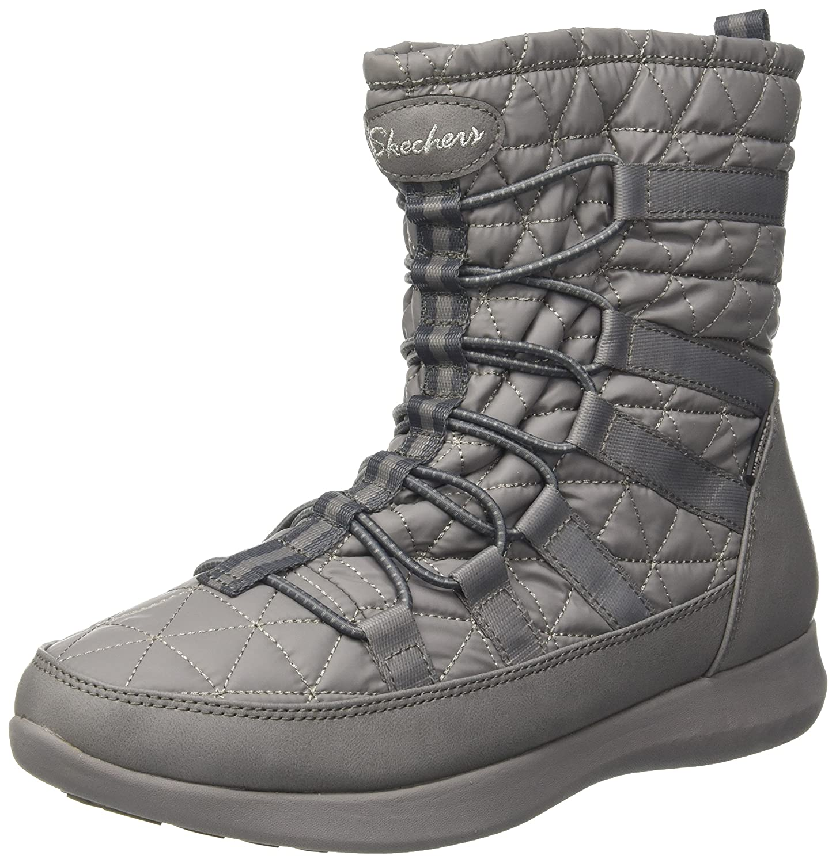 Skechers Damen Boulder Stiefel  38 EU|Grau (Charcoal)