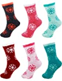 6 Pairs Assorted Super Soft Warm Fuzzy Microfiber Comfy Home Socks - Value Pack