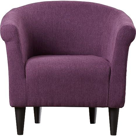 Fabulous Zipcode Design Liam Barrel Chair Living Room Chair Eggplant Evergreenethics Interior Chair Design Evergreenethicsorg