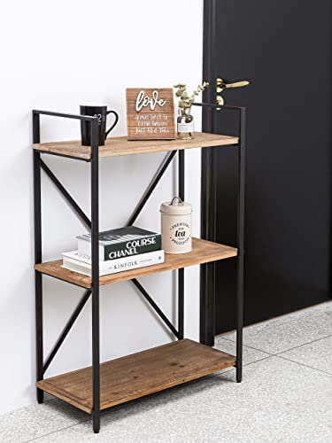 3 Tier Bookshelf Solid Wood Small Bookcase