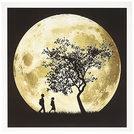 Amazon 3drose full moon silhouette of people walking near a 3drose full moon silhouette of people walking near a tree and under a bright full moon m4hsunfo