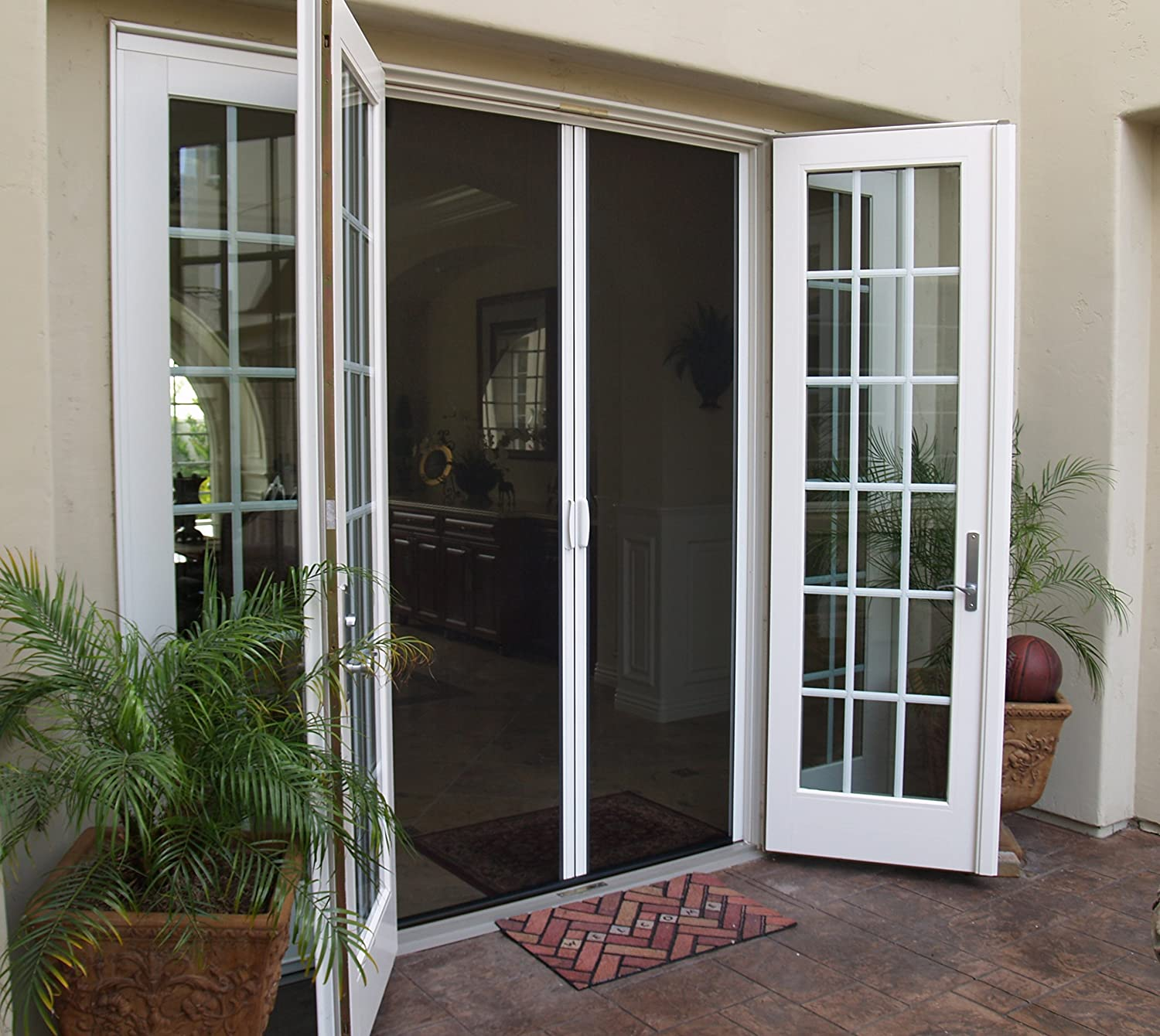 Casper Retractable Double Door Screen White Amazon