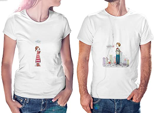 Ucard Love Miss You Couple T Shirts Xl Size Amazon In Clothing