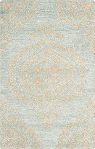 Safavieh Soho Collection SOH703A Handmade Blue and Beige Premium Wool Area Rug 2 x 3