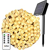Solar String Lights Outdoor, Christmas Lights, 80Ft 200 LEDs with Remote 8 Lighting Modes Fairy Lights Waterproof…