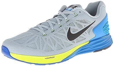 Nike Mens Lunarglide 6, Grey (lt Magnet Grey/blk-pht Bl-