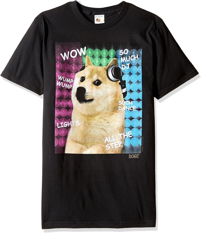 HSGDD Doge So Much DJ Black Shirt, 0Black, X-Large: Amazon.es: Ropa y accesorios