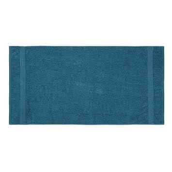 Lumaland Premium Set 3 Toallas de baño 3 Toallas de Ducha 70 x 140 cm 100% algodón 500 g/m² con Cinta índigo: Amazon.es: Hogar