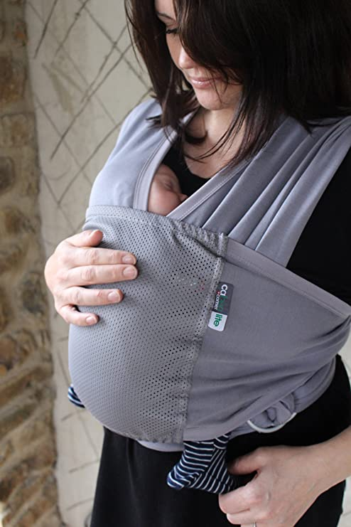 Caboo Lite- Multi Position Baby Carrier (Greystone)  Amazon.co.uk  Baby af2fcffee01