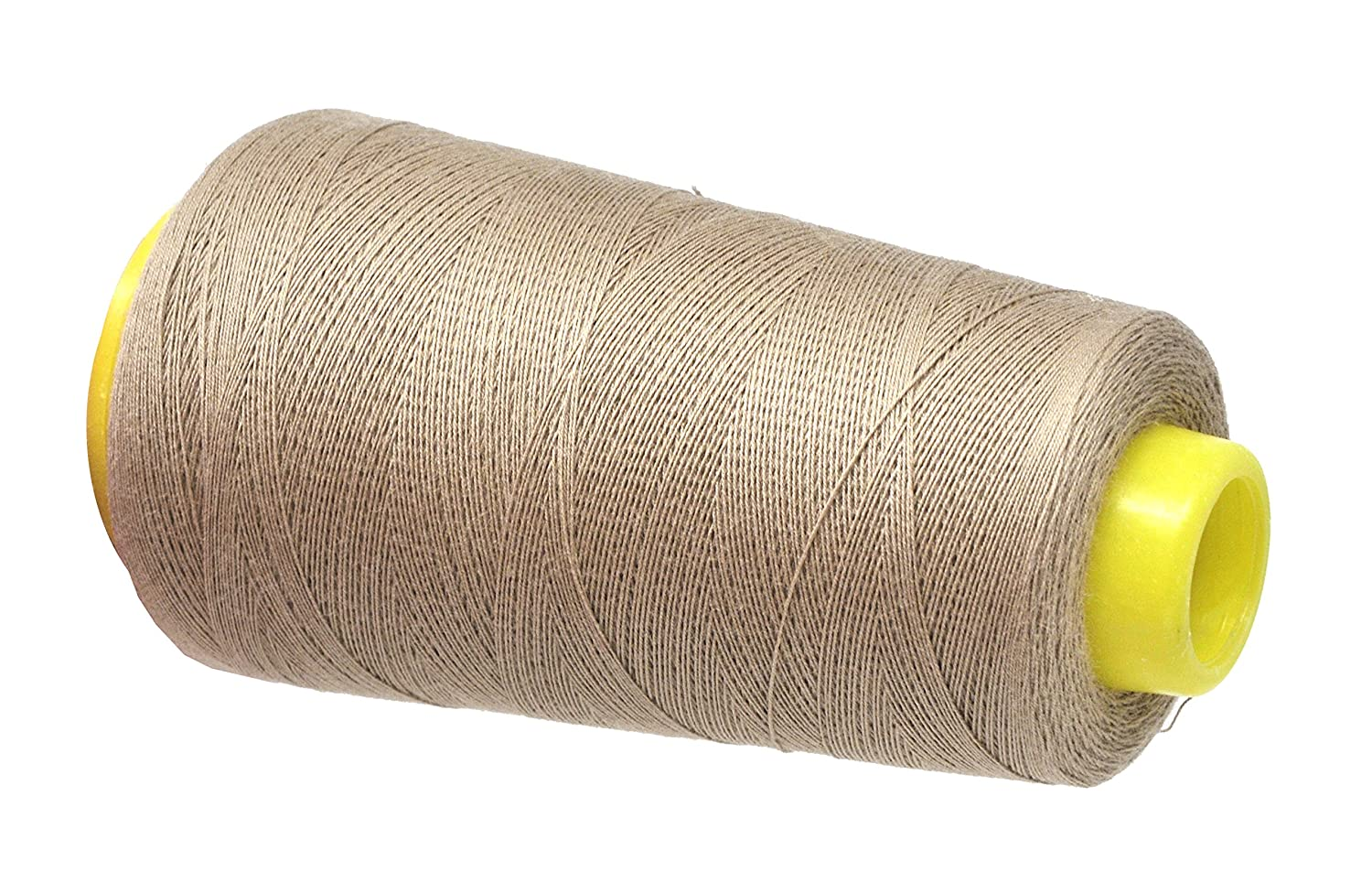 2 Rolls 2400 Yards, Gold 100 Percent Natural Mercerized Mandala Crafts Quilting Cotton Thread Cone for Machine and Hand Sewing 50 wt