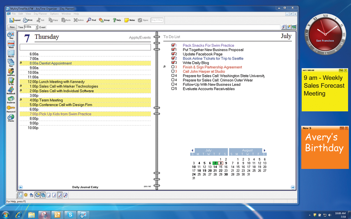 Organizer pro 7 download old version software computer for Software planner
