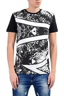 Versace Jeans Mens Orange Graphic Short Sleeve V-Neck T-Shirt Sz US M IT 50