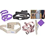 """Flash Sale! MABUA Physical Therapy Gait Belt with Metal Buckle -1 Loop Handle Beige 60"""". Also Available 1 Loop Handle: Beige 72"""", Black 60"""", 72"""", Pink 60"""""""