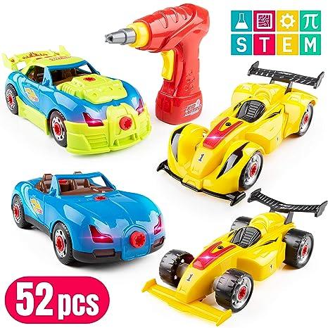 Build A Car >> Amazon Com Usa Toyz Race Car Take Apart Toys 53pk Build A Car