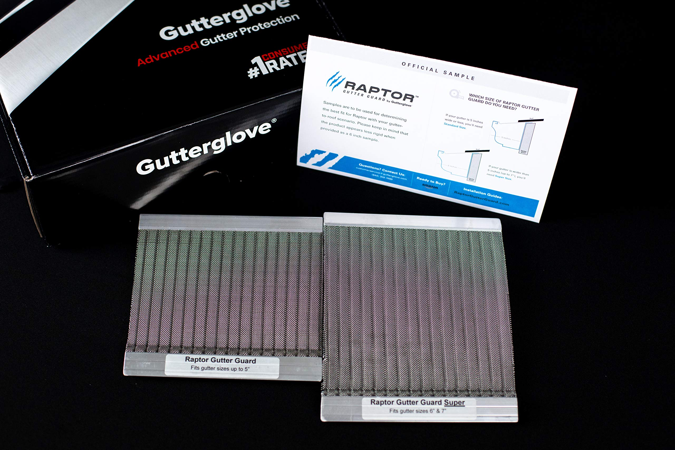 Stainless Steel Micro-Mesh, Raptor Gutter Guard: A Contractor-Grade DIY Gutter Cover That fits Any roof or Gutter Type- Sample Pack