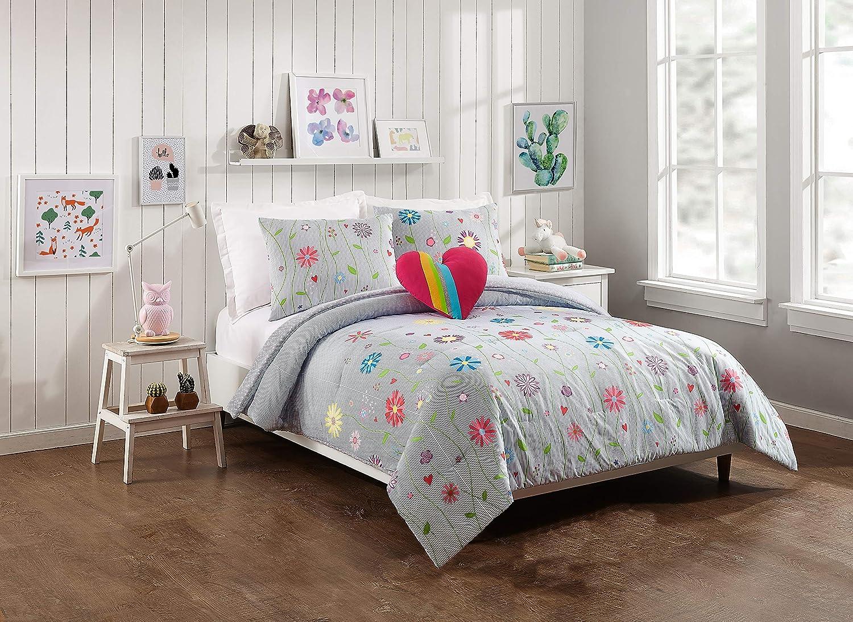 Jessica Simpson Growing Garden Comforter Set, Full Queen, Blue