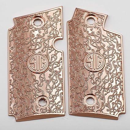 Tek_Tactical Custom Sig P238 Grips Scroll Pistol Grips Zinc Material Rose  Gold