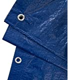 GardenMate 2m x 3m Tarpaulin Waterproof Heavy Duty - Universal Blue/Green tarp Sheet - Premium Quality Cover Made of 90gramm/Square metre Tarpaulin